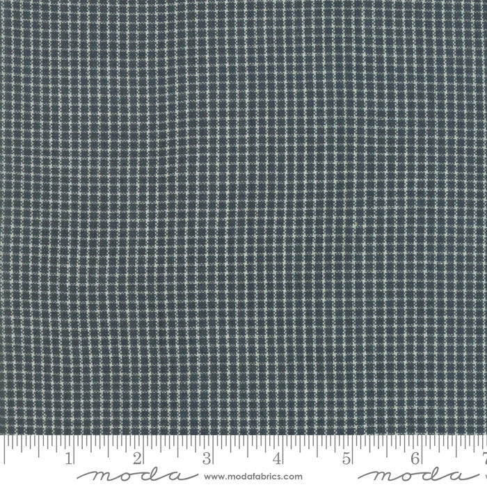 Boro Woven Foundations by Moda Fabrics - 12561 41 Charcoal Mini plaid
