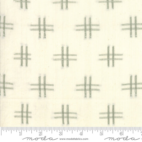 Boro Woven Foundations by Moda Fabrics - 12561 11 Hashtag on Cream