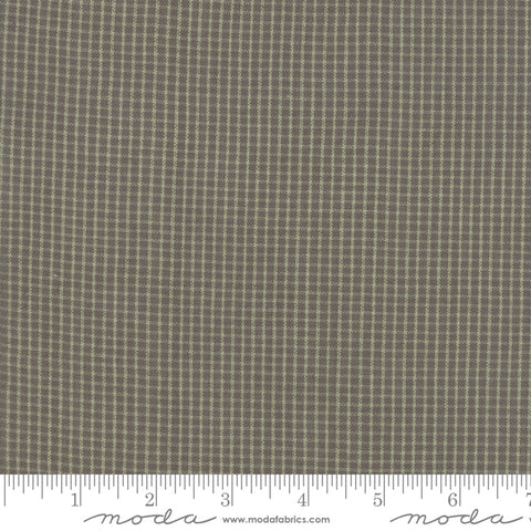 Boro Woven Foundations by Moda Fabrics - 12561 27 Mini Plaid on Flax Brown