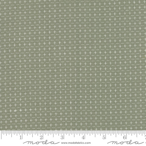 Boro Woven Foundations by Moda Fabrics - 12561 18 Plus Signs Taupe