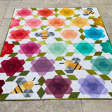 Bumblebee Blossoms quilt kit by Krista Moser for The Quilted Life
