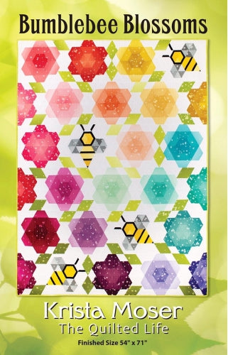 Bumblebee Blossoms quilt pattern by Krista Moser for The Quilted Life