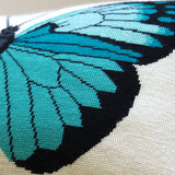 Turquoise Butterfly - Needlepoint - PDF Download
