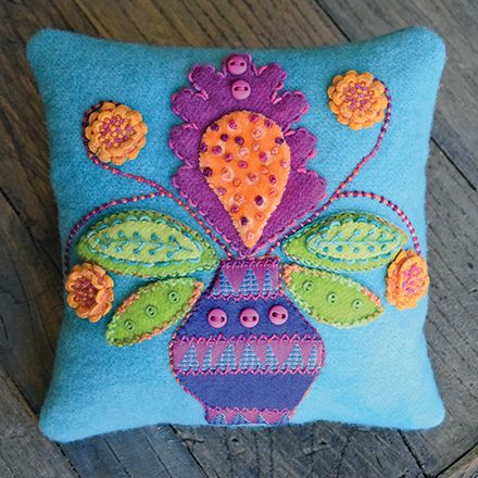 Canna Blossom Pincushion Kit by Sue Spargo