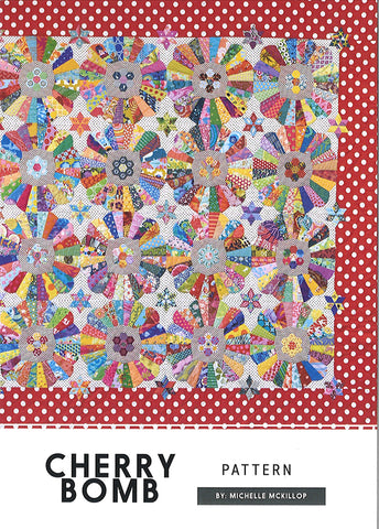 Cherry Bomb Quilt Pattern designed by Michelle McKillop for Jen Kingwell Designs