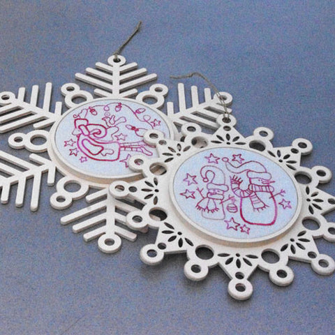 Christmas Snowflake Stitcheries by Rosalie Dekker Designs
