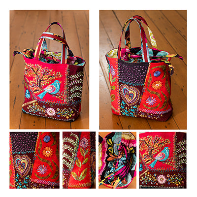Crazy Little Bag Pattern with Silk Thread Option by Wendy Williams