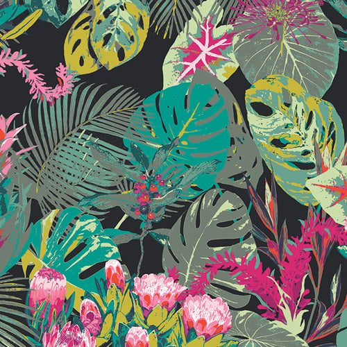 Esoterra - Rayon - Tropicalia Dark by Art Gallery Fabrics