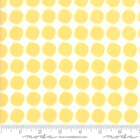 Fine and Sunny by Jen Kingwell for Moda Fabrics - Maypole Mango Cream 18175 19