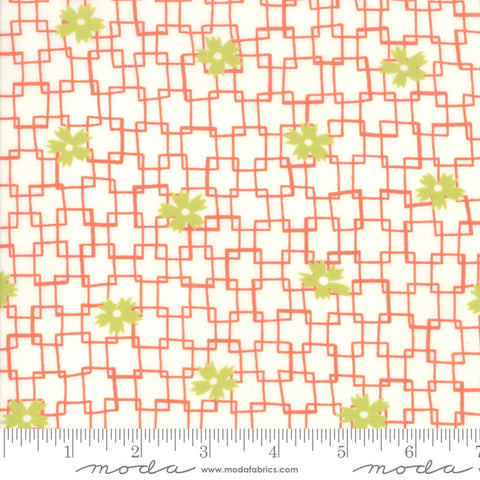 Fine and Sunny by Jen Kingwell for Moda Fabrics - Trellis Persimmon 18172 12