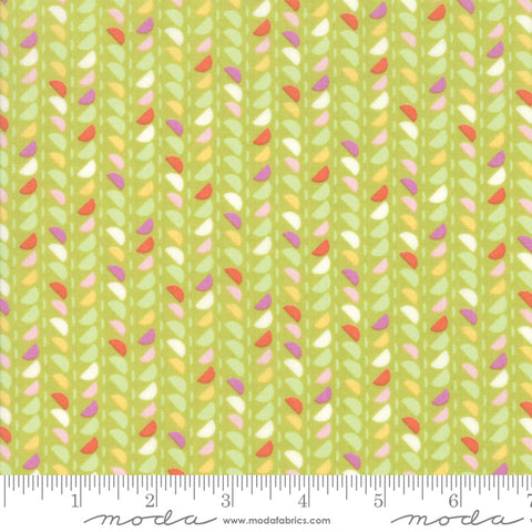 Fine and Sunny by Jen Kingwell for Moda Fabrics - Spidewinder Pistachio 18176 13