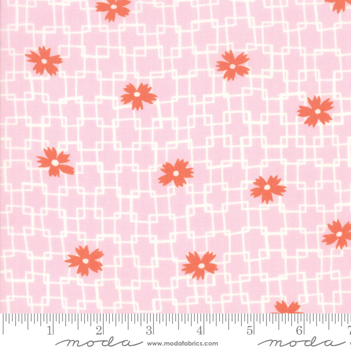 Fine and Sunny by Jen Kingwell for Moda Fabrics - Trellis Rose Oil 18172 23