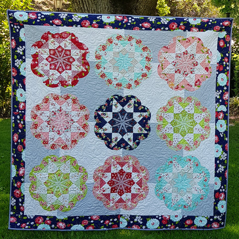 Flourish Quilt Pattern and Paper Piece Kit by Lilabelle Lane Creations