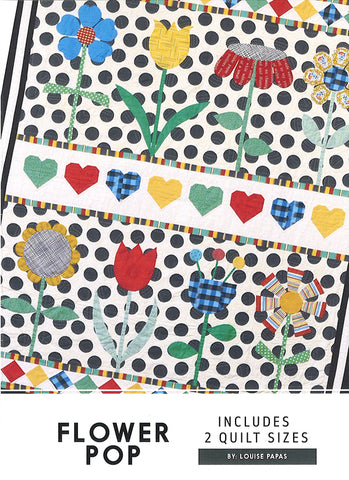 Flower Pop Quilt Pattern designed by Louise Papas for Jen Kingwell Designs