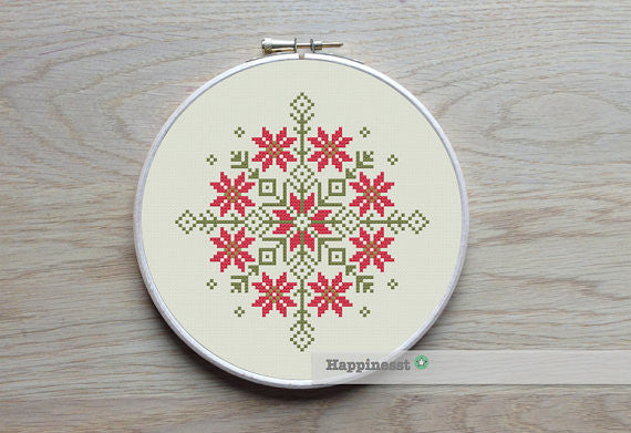 Geometric Nordic Folk Ornament - PDF Download