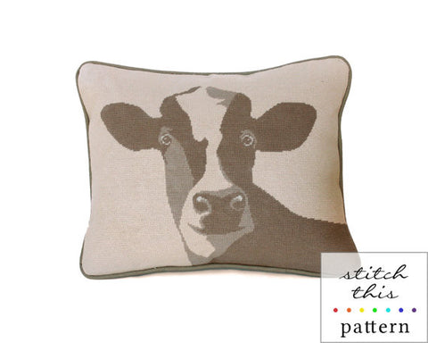 Happy Cow - Needlepoint - PDF Download