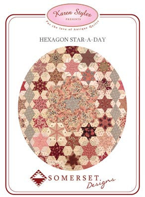 Hexagon Star - A - Day by Somerset Designs