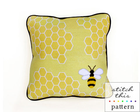 Honey Bee - Needlepoint - PDF Download