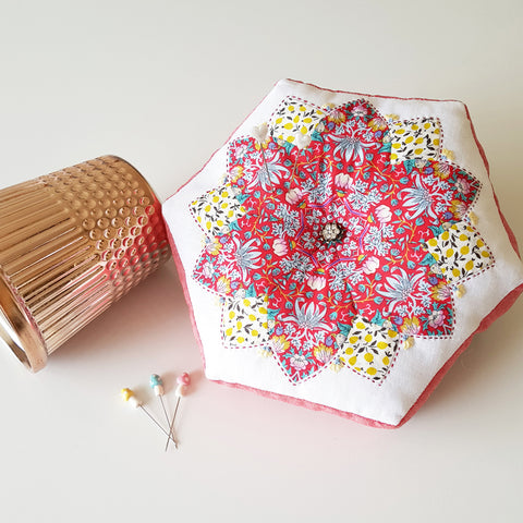 Indulgence Pincushion Kit by Sharon Burgess for Lilabelle Lane Creations