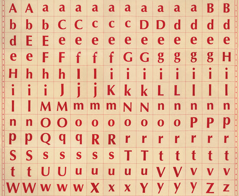 Its Elementary designed by American Jane for Moda Fabrics - 21781 11 Panel in Red