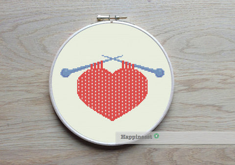 Knitted Heart - PDF Download