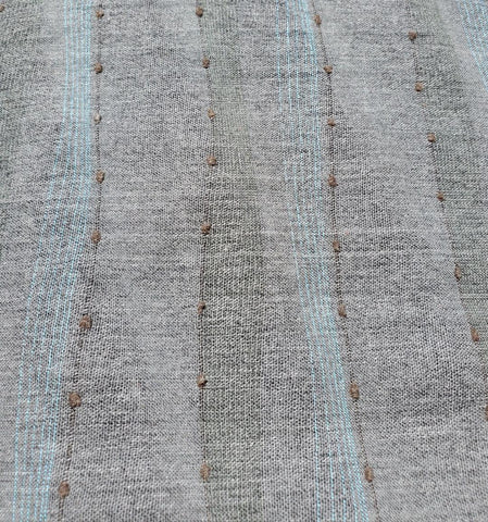 Kobayashi - Yarn Dyed Woven - Grey with Lines