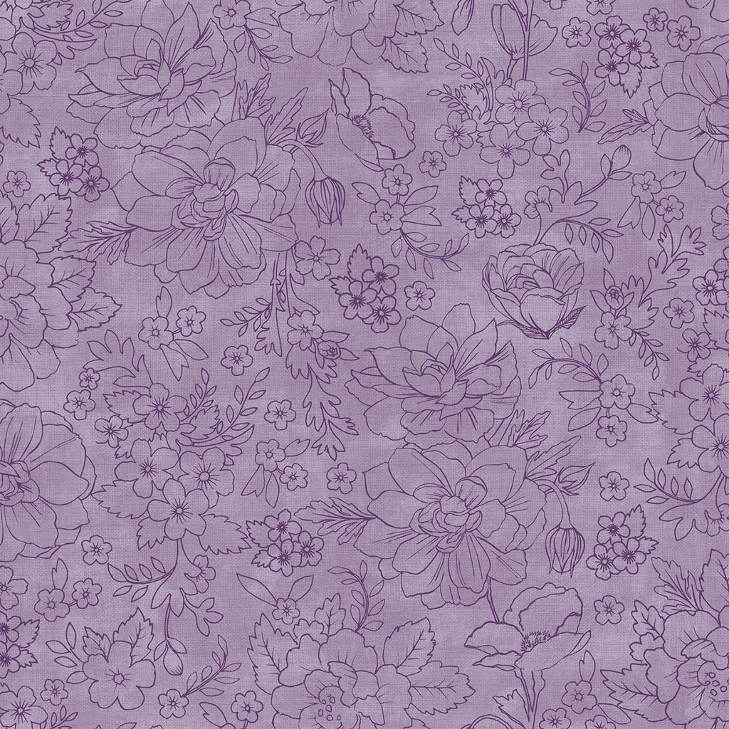 Lilac & Sage by Punch Studio for RJR Fabrics - Purple Toile PS104-PU6