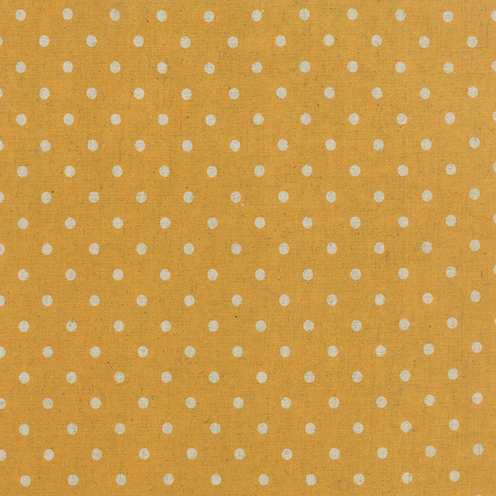 Linen Mochi Dot by Momo for Moda Fabrics - Golden Wheat