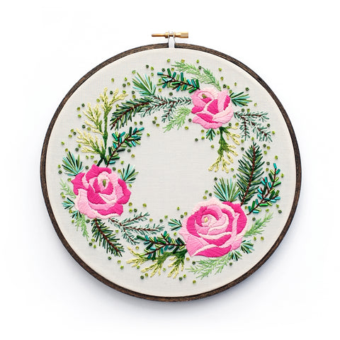 Roses and Pine Wreath by Lolli and Grace - PDF Download