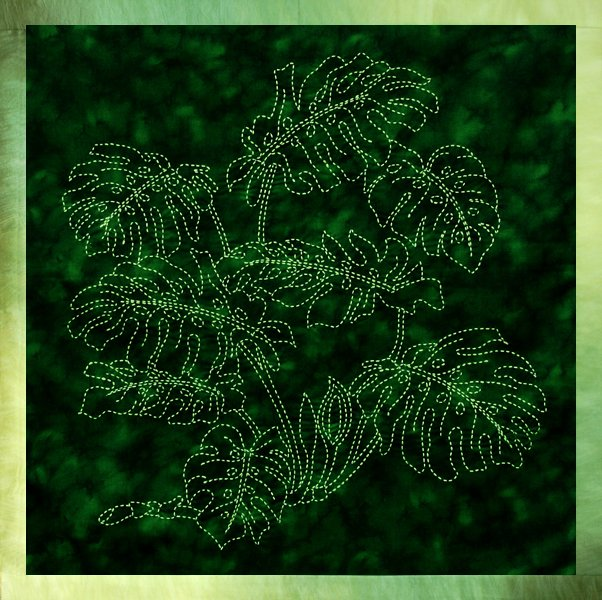 Monstera Panel by Sylvia Pippen Designs