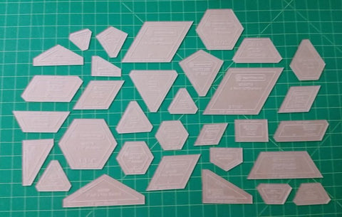 The New Hexagon - Acrylic Cutting Templates