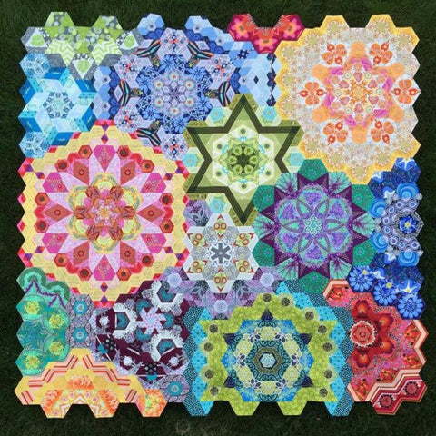 The New Hexagon Millefiore Quilt-Along: Complete Paper Piece Pack for 12 Rosettes