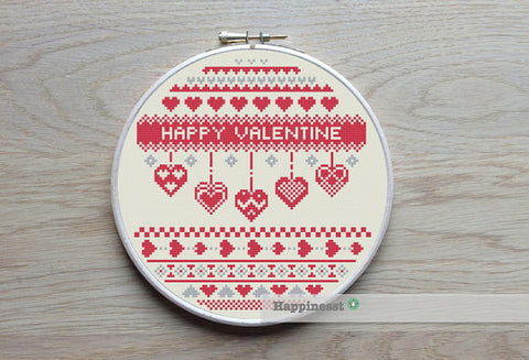 Nordic Folk Art Valentine - PDF Download