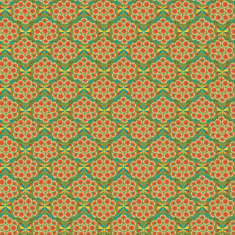 Nouveau by Jane Sassaman for Free Spirit Fabrics - Carnations Autumn PWJS117-AUTU