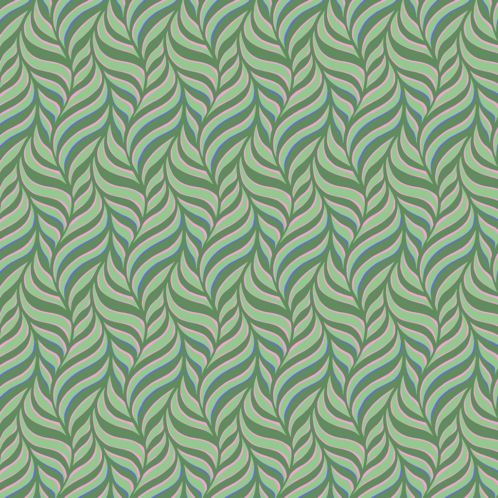 Nouveau by Jane Sassaman for Free Spirit Fabrics - Favrile Flow Summer PWJS118-SUMM