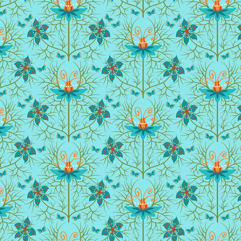 Nouveau by Jane Sassaman for Free Spirit Fabrics - Love in the Mist Autumn PWJS119-AUTU