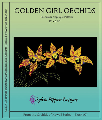 Orchids of Hawaii Series by Sylvia Pippen Designs - Golden Girl Orchids