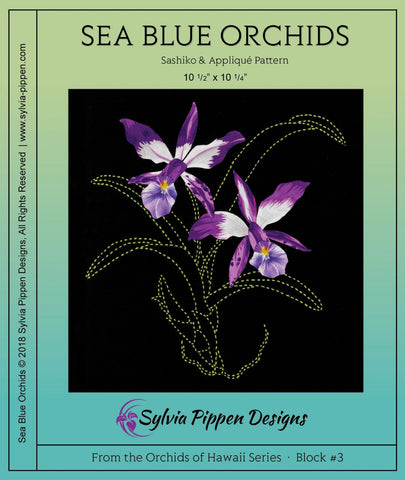 Orchids of Hawaii Series by Sylvia Pippen Designs - Sea Blue Orchids