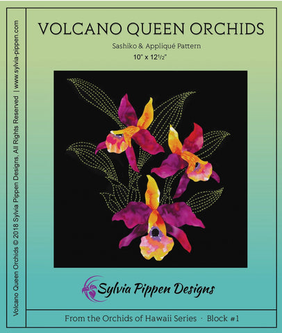 Orchids of Hawaii Series by Sylvia Pippen Designs -Volcano Queen Orchids