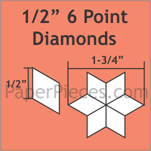 1/2 inch 6 Point Diamond Acrylic Template