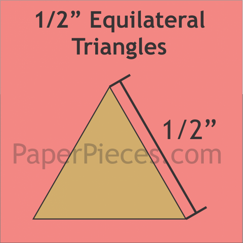1/2 inch Equilateral Triangle Paper Pieces