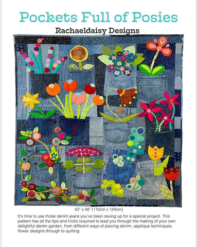 Pocket Full of Posies quilt pattern by Rachaeldaisy Designs