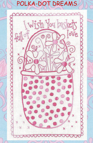 Polka-Dot Dreams Basket of Love by Rosalie Dekker Designs