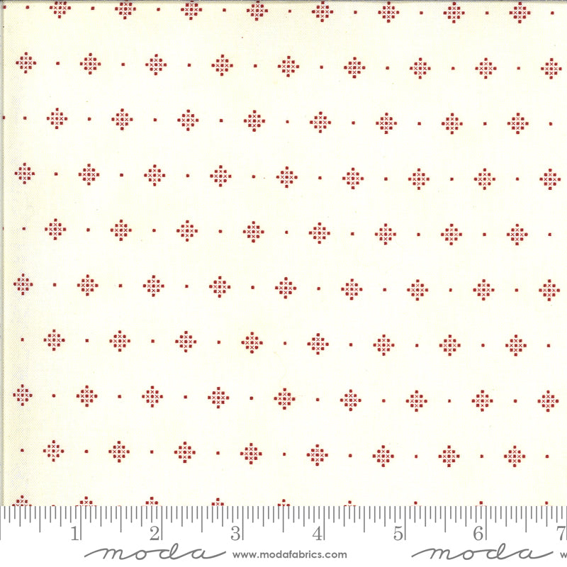 Redwork Gatherings by Primitive Gatherings for Moda Fabrics - 49118 11