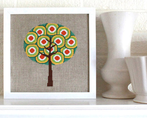 Retro Trees - Cross Stitch - PDF Download