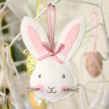 Rosie Rabbit ornament pattern by Molly and Mama