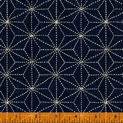 Sashiko Collection by Whistler Studios for Windham Fabrics - 51812-2 Stars on Indigo
