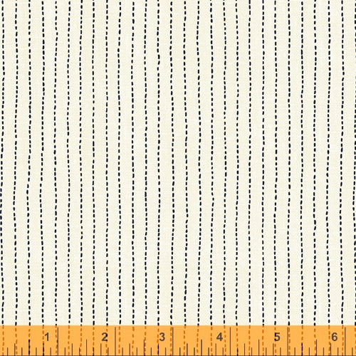 Sashiko Collection by Whistler Studios for Windham Fabrics - 51817-1 Stitched Stripe on Ivory