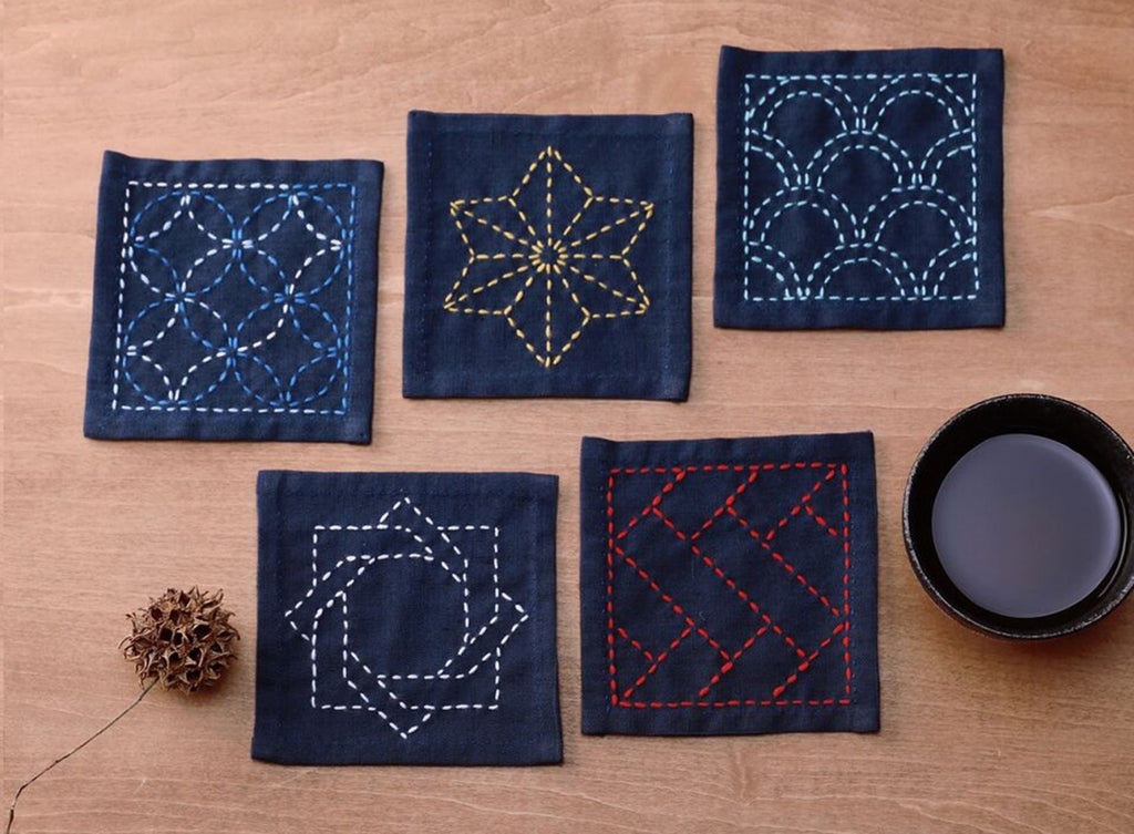 Sashiko Tsumugi Sampler Coaster Collection by Olympus