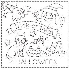 Sashiko Sampler Halloween - White